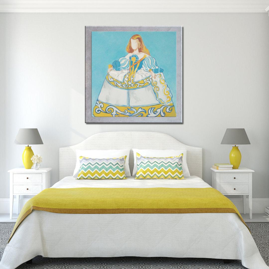 Cuadros Meninas Modernas marco plata azul amarillo Talavera Cuadros ...