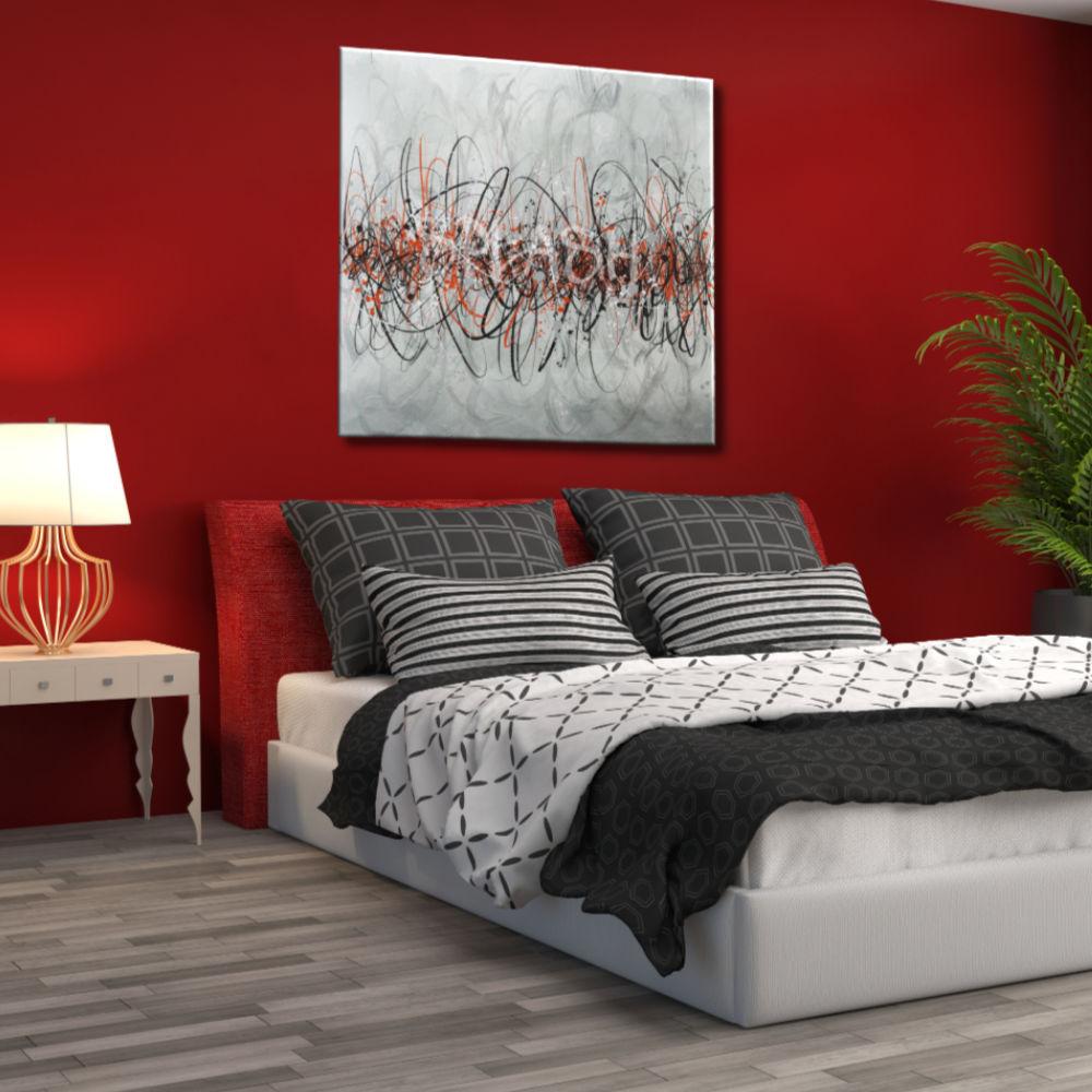Cuadros abstractos modernos online blanco y negro rojo for Comprar cuadros modernos online baratos