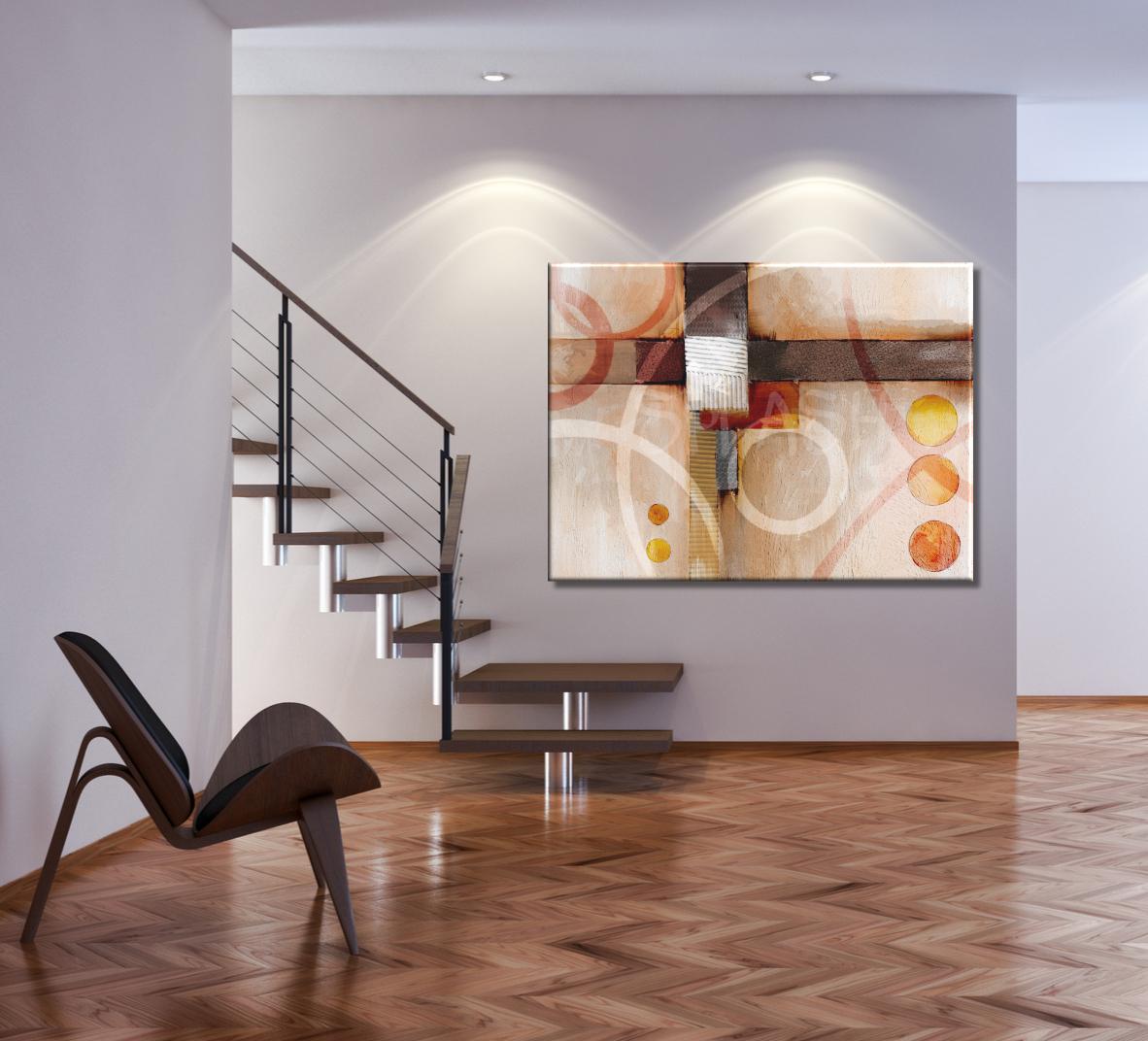 Cuadros abstractos texturas geom tricos modernos grandes - Decoracion de cuadros ...