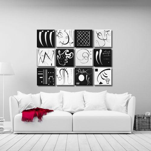 Cuadros modulares tr pticos dipticos tiendas de cuadros for Azulejo a cuadros blanco y negro barato