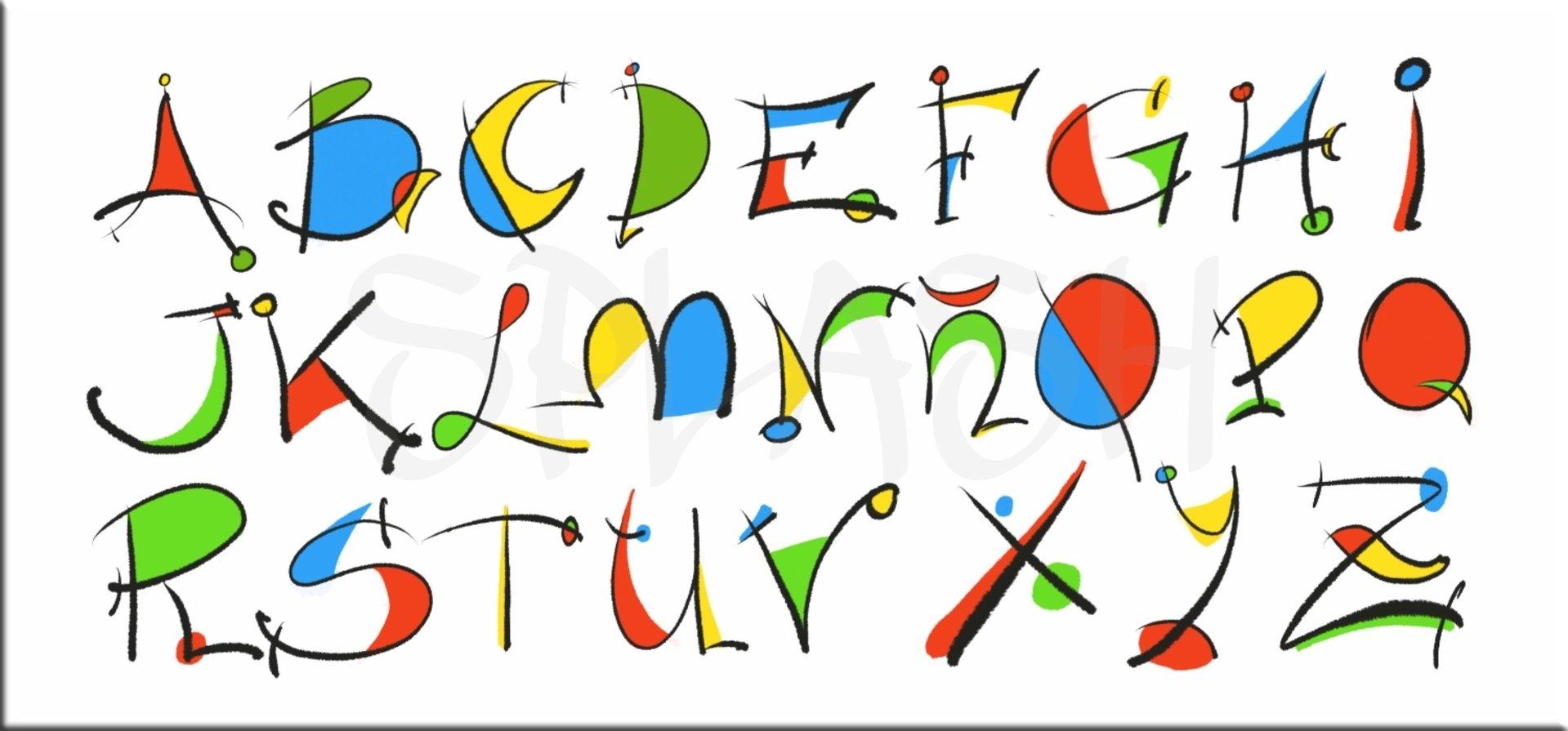 Cuadros infantiles Juveniles letras colores abecedario dormitorios ...