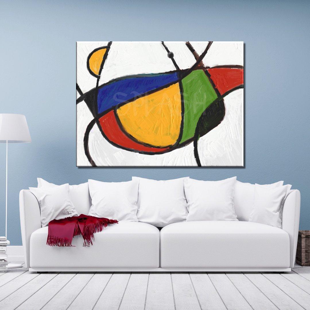 Cuadros abstractos modernos colores primarios texturados - Cuadros retroiluminados baratos ...