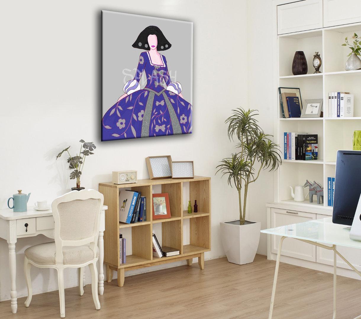 Cuadros meninas modernas azul plata tienda de cuadros Comprar cuadros modernos baratos online