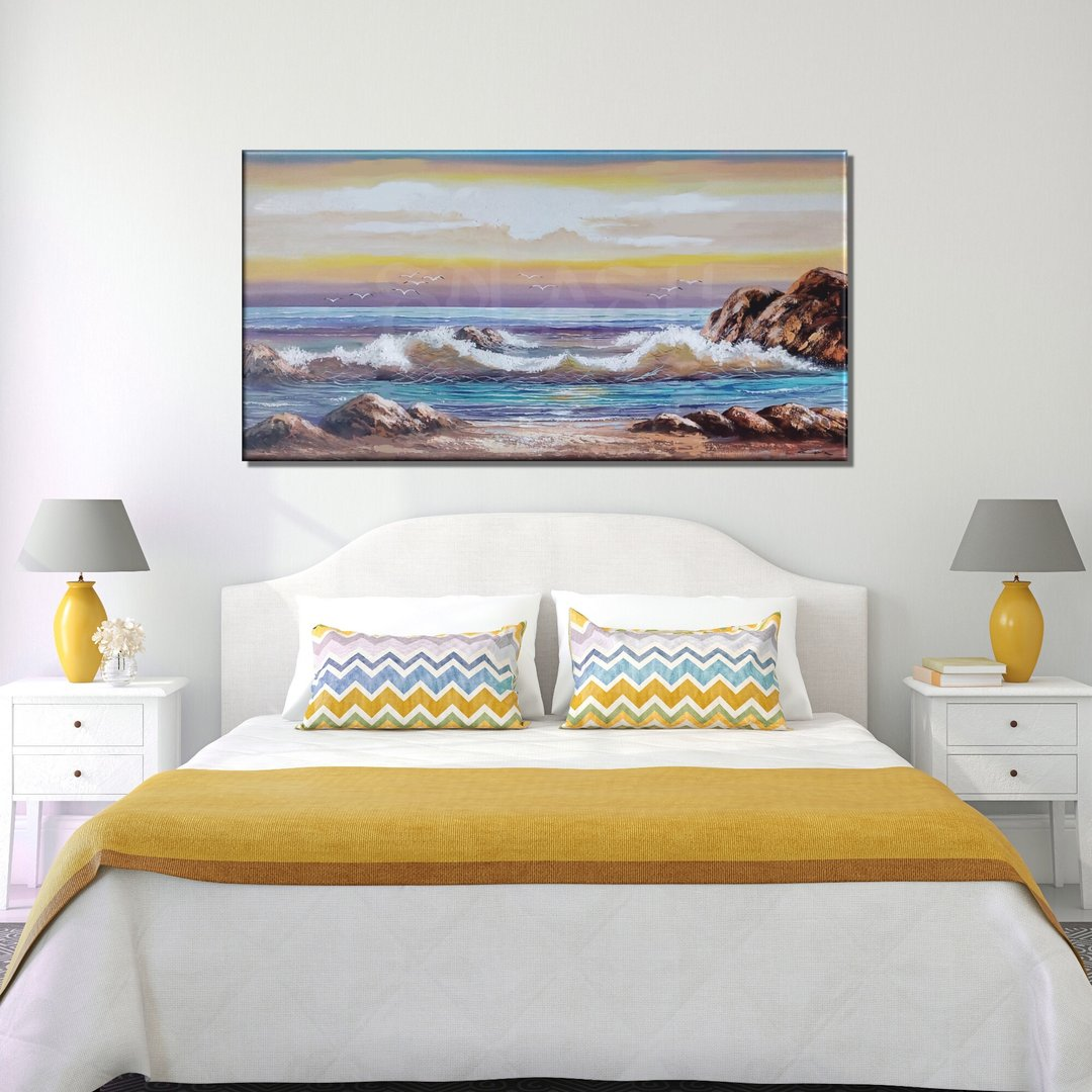 Cuadros de playas atardecer marinas para dormitorios - Cuadros para una habitacion ...