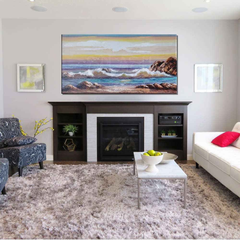 Cuadros de Playas atardecer marinas para dormitorios ...