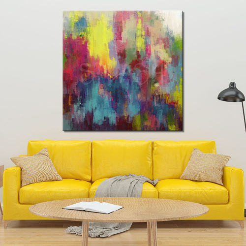 Painted fantasy abstract painting