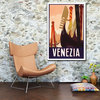 Vintage Venice poster in warm colours