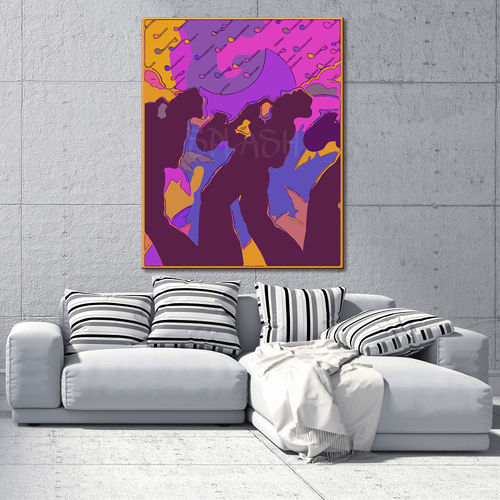 Colorful Jazz Band Canvas