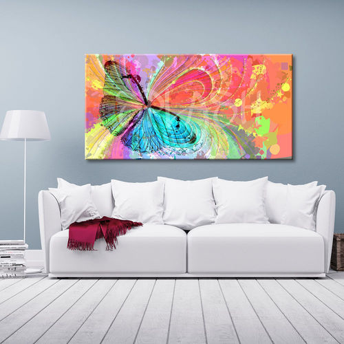 Multicolored abstract butterfly painting