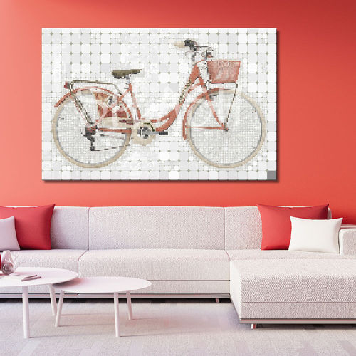 Painting vintage bike pop art
