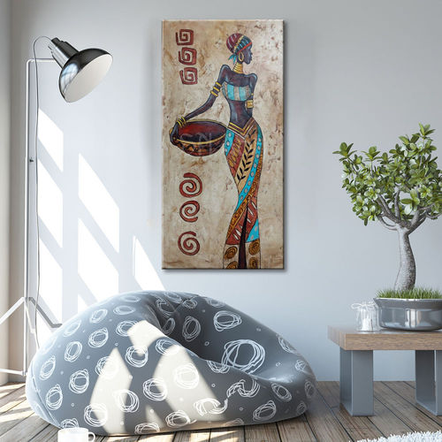 Ethnic painting with African figure