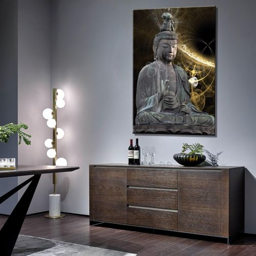 Abstract Printed Sitting Buddha Picture