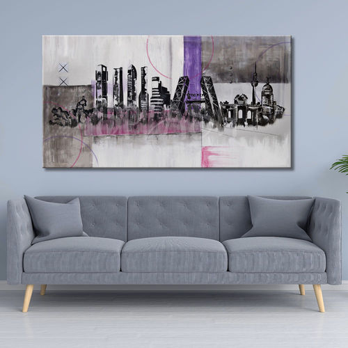 Abstract Skyline Madrid Painting