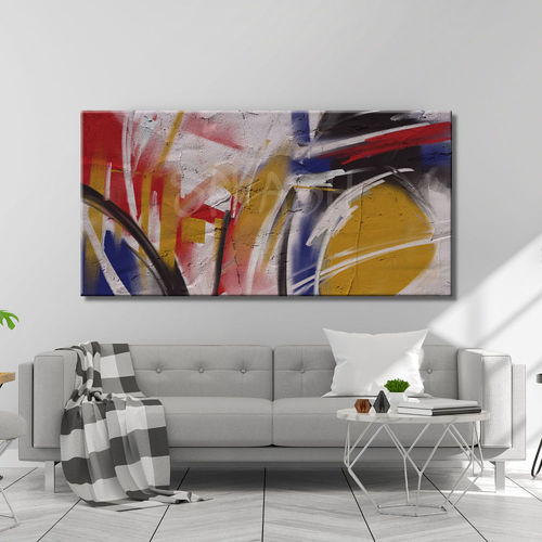 Abstract color collision painting