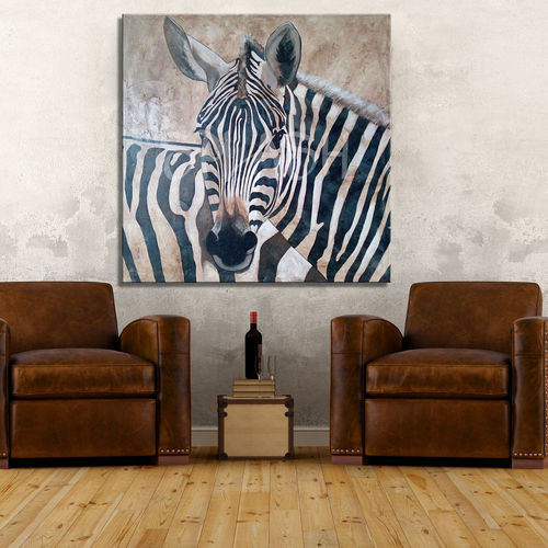 Black and White Zebra Ethnic Painting