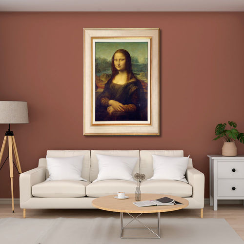 Gioconda Picture with cream and gold frame