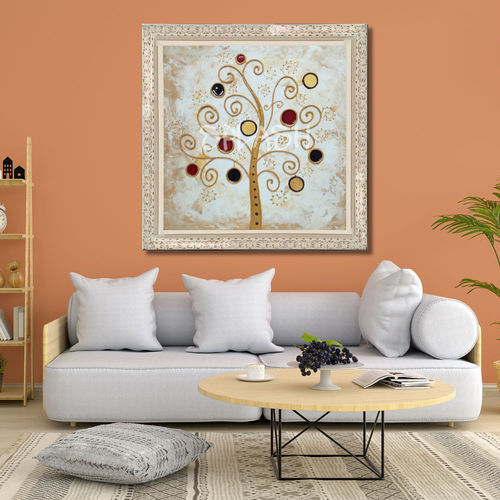 Painting tree of life with cream frame