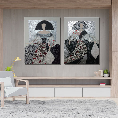 Couple of paintings of Meninas with mirror