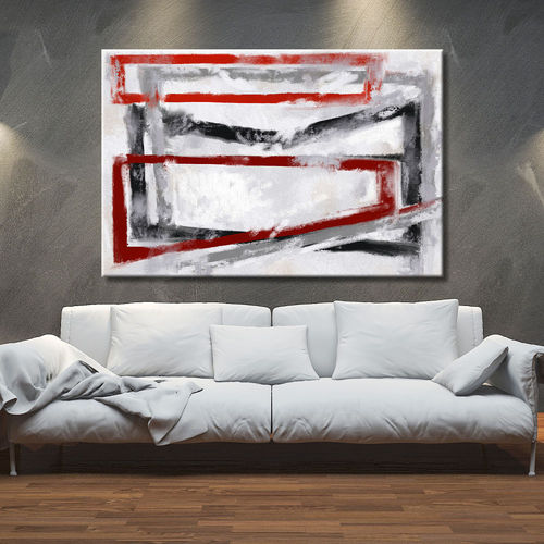 Abstract avant-garde geometric painting