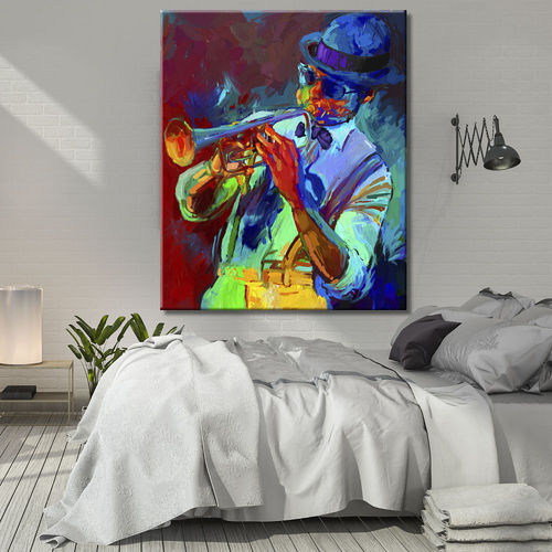 Figurative Painting with Jazz Trumpeter