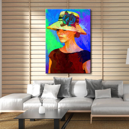Impressionist painting of a woman with a hat
