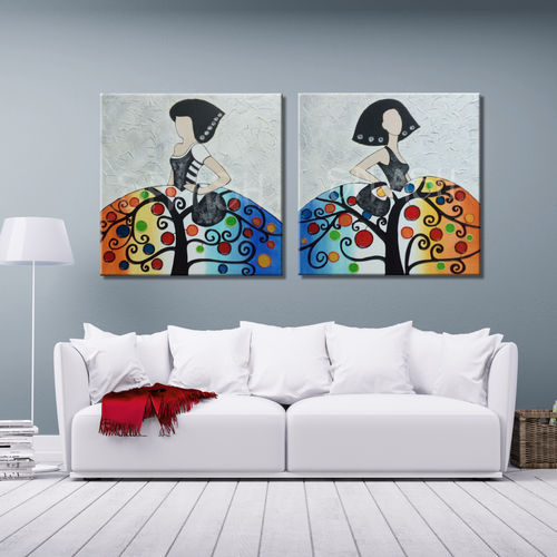 Couple of paintings by Meninas Tree of Life