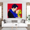 Pop Art Couple Kissing Painting