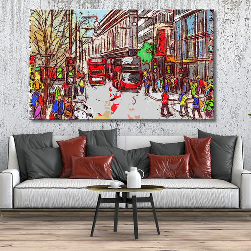 London city picture figures and buses