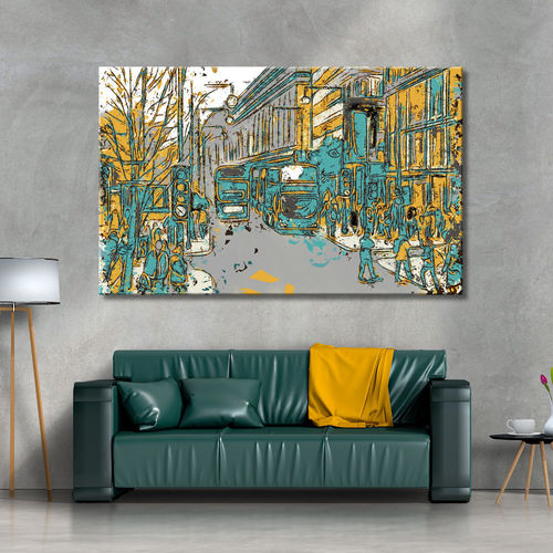 Urban Picture London Turquoise and Mustard