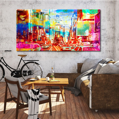 Colorful Pop Art New York Paintings