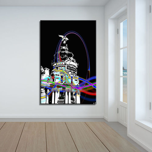 Metropolis Building  Abstract painting