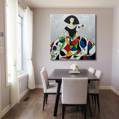 Original painted and printed modern dining rooms