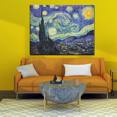 Famous Van Gogh painting Starry Night printed on canvas