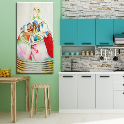 Original painted and printed modern paintings for kitchen decoration