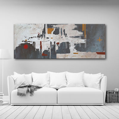 Modern monochrome abstract hand-painted painting